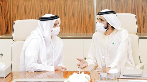 محمد بن راشد في حديث مع سيف بن زايد