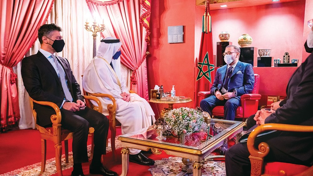 Mohammed VI when he received Abdullah bin Zayed