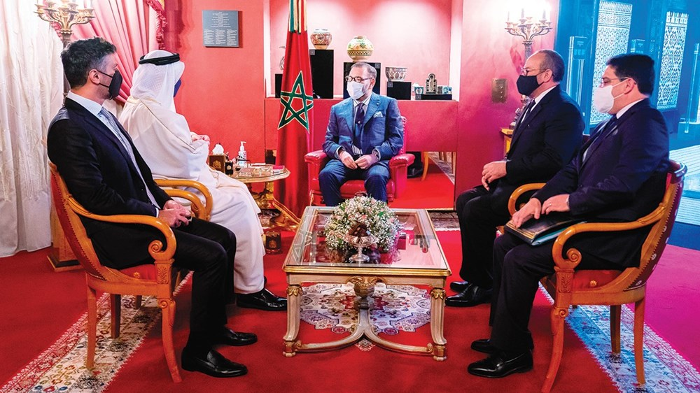 Mohammed VI in an interview with Abdullah bin Zayed