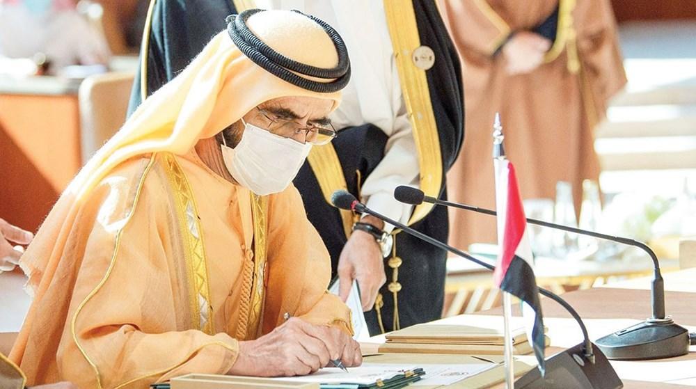 محمد بن راشد لدى توقيع «إعلان العلا»  (الصور من واس)
