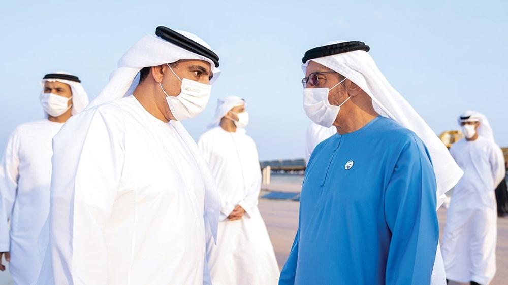 حمدان بن زايد في حديث مع محمد الهاملي