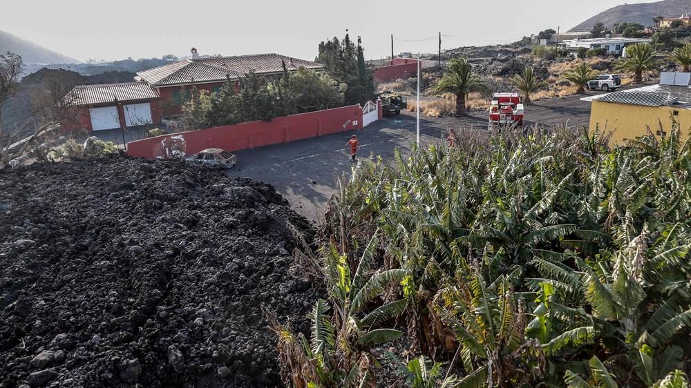 الحمم البركانية تدمر المنازل ومزارع الموز