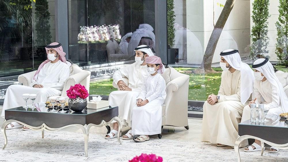 عمار بن حميد وعبدالعزيز بن حميد وراشد بن حميد خلال اللقاء
