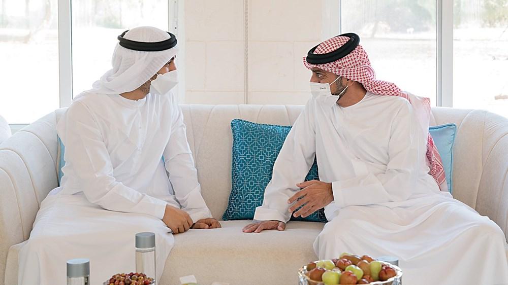 عمار النعيمي في حديث مع حمدان بن محمد بن زايد خلال اللقاء
