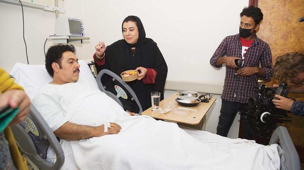 نشوى مصطفى وجمعة علي في لقطة من «اللي نحبهم»